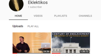 Eklektikos en youtube